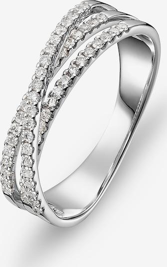 CHRIST Ring 'Diamonds' in silber / weiß: Frontalansicht