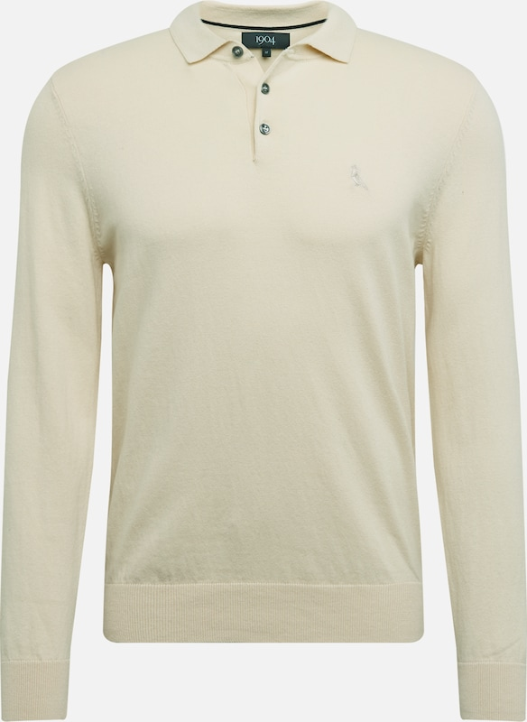 BURTON MENSWEAR LONDON Sveter 'knit polo' - béžová, Produkt