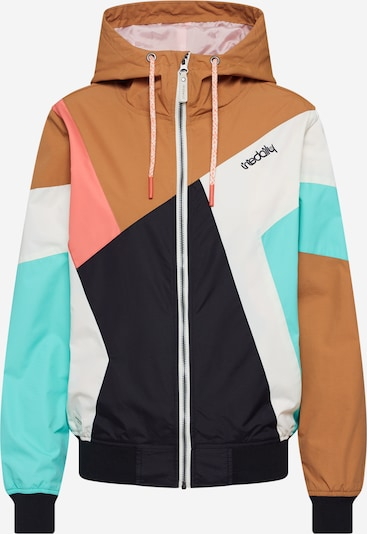 Iriedaily Funkcionalna jakna 'Puzzled' | turkizna / karamel barva, Prikaz izdelka