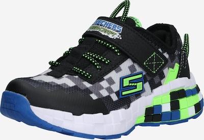SKECHERS Sneaker 'Mega-craft' en blau / grau / limette / schwarz / weiß, Vue avec produit