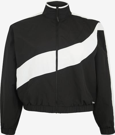 REEBOK Sportjacke in schwarz / weiß, Produktansicht