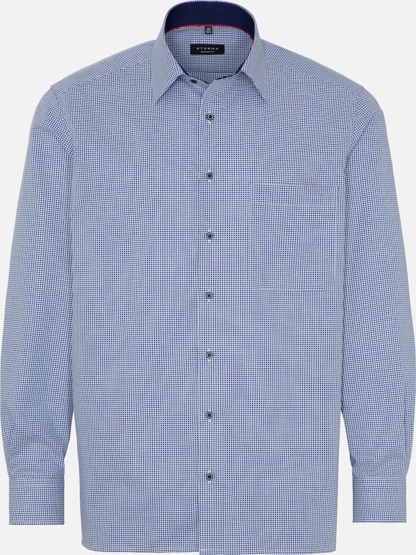 ETERNA Hemd in blau     weiß  Neue Kleidung in dieser Saison bf773f