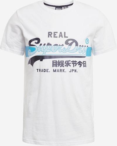 Superdry Majica | marine / nebeško modra / bela barva, Prikaz izdelka