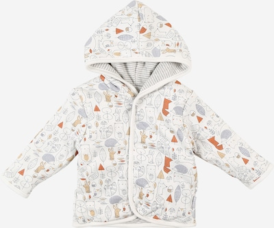 STACCATO Jacke in beige / rauchblau / dunkelorange / schwarz / weiß, Produktansicht