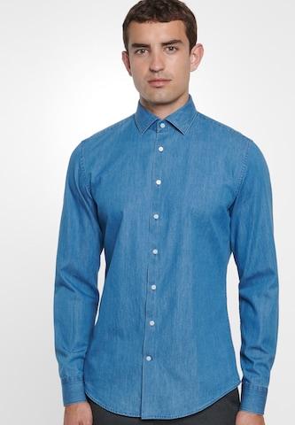 Camicia di SEIDENSTICKER in blu