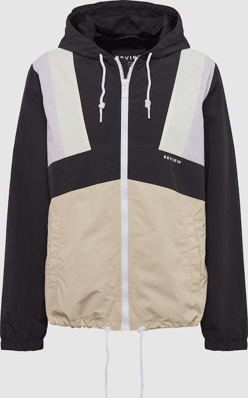 Review Jacke 'WNDBRKR BLOCKED' in flieder   schwarz   weiß  Markenkleidung für Männer und Frauen