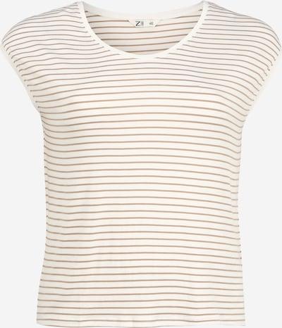 Z-One Shirt 'Heline' in beige / weiß, Produktansicht