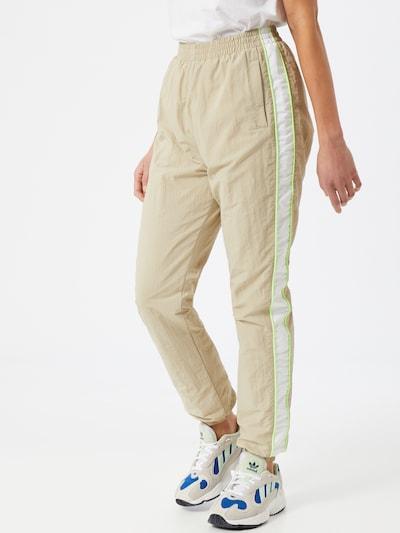 Pantaloni Urban Classics pe bej / alb, Vizualizare model