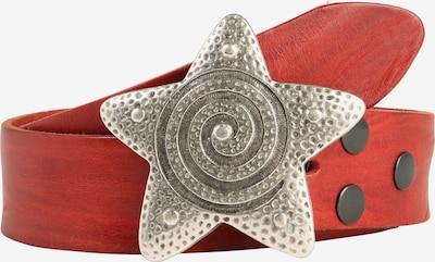 RETTUNGSRING by showroom 019° Echtledergürtel 'Masterlux' in rot, Produktansicht