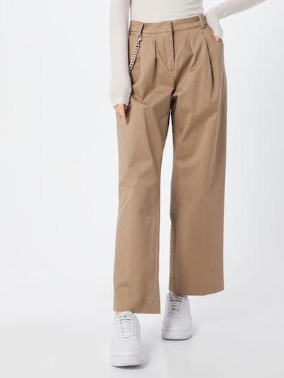 világos bézs REPLAY Élére vasalt nadrágok, Modell nézet