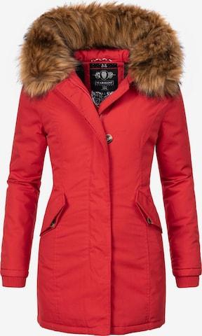 MARIKOO Winter Coat 'Karmaa' in Red
