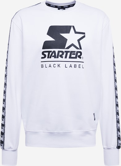 Starter Black Label Sweatshirt  'Starter Logo Taped Crewneck' in weiß, Produktansicht