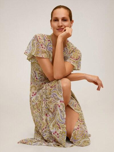 MANGO Kleid 'ISABELLA' in grün / mischfarben, Modelansicht