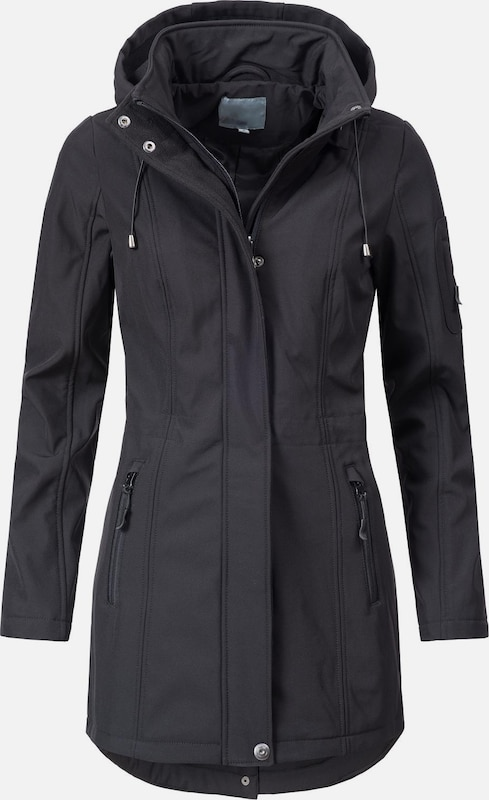 Peak Time Softshelljacke 'L60468' in schwarz, Produktansicht