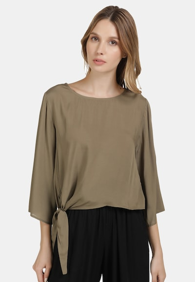 DREIMASTER Bluse in brokat, Modelansicht