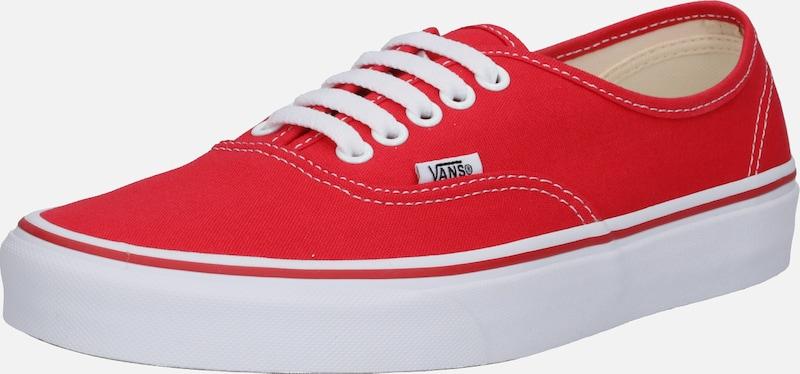 En Rouge Basses 'authentic' Vans Baskets L5AcR4j3q
