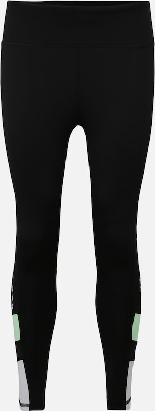 DKNY Sport Sportbroek 'HIGH WAIST 78 LEGGING W COLOR BLOCK' in de kleur Zwart, Productweergave