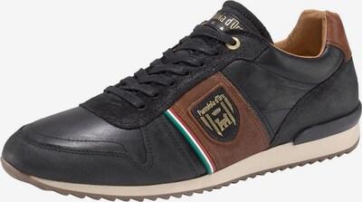PANTOFOLA D'ORO Sneaker 'Umito Uomo' in braun / schwarz: Frontalansicht