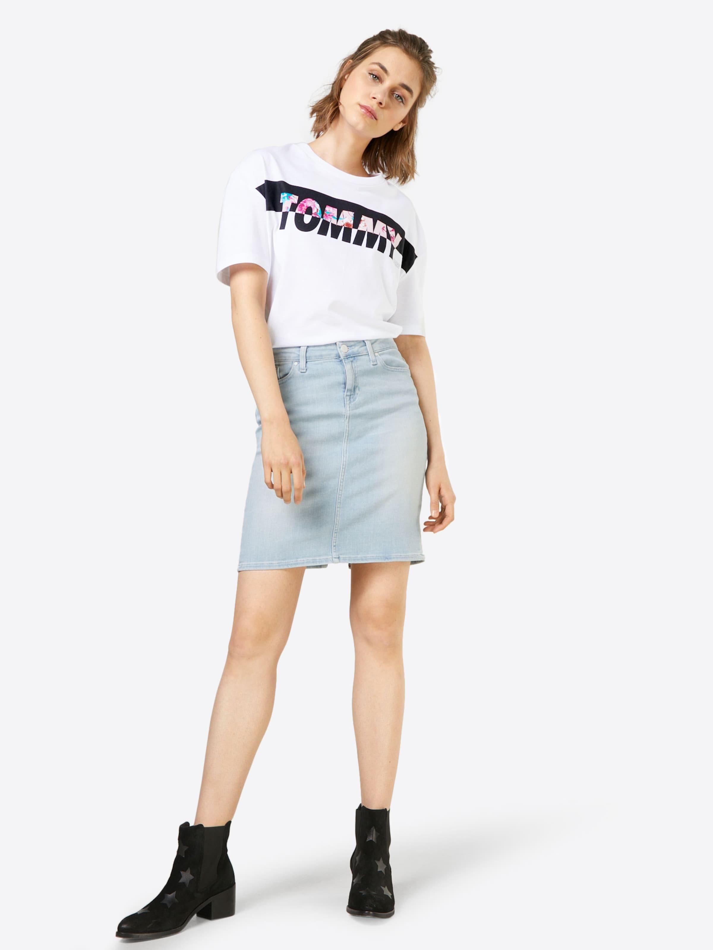 Billige Echte Online Shop Tommy Jeans Crop T-Shirt 'FLORAL LOGO' j7etKOPRtx