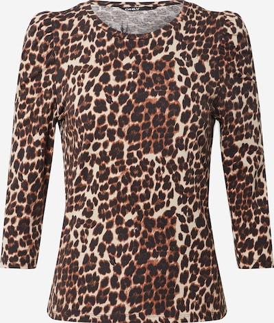 ONLY Shirt 'Maya' in de kleur Beige / Bruin / Zwart, Productweergave