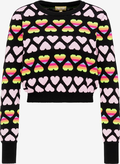 MYMO Pullover in mischfarben / rosa / schwarz, Produktansicht