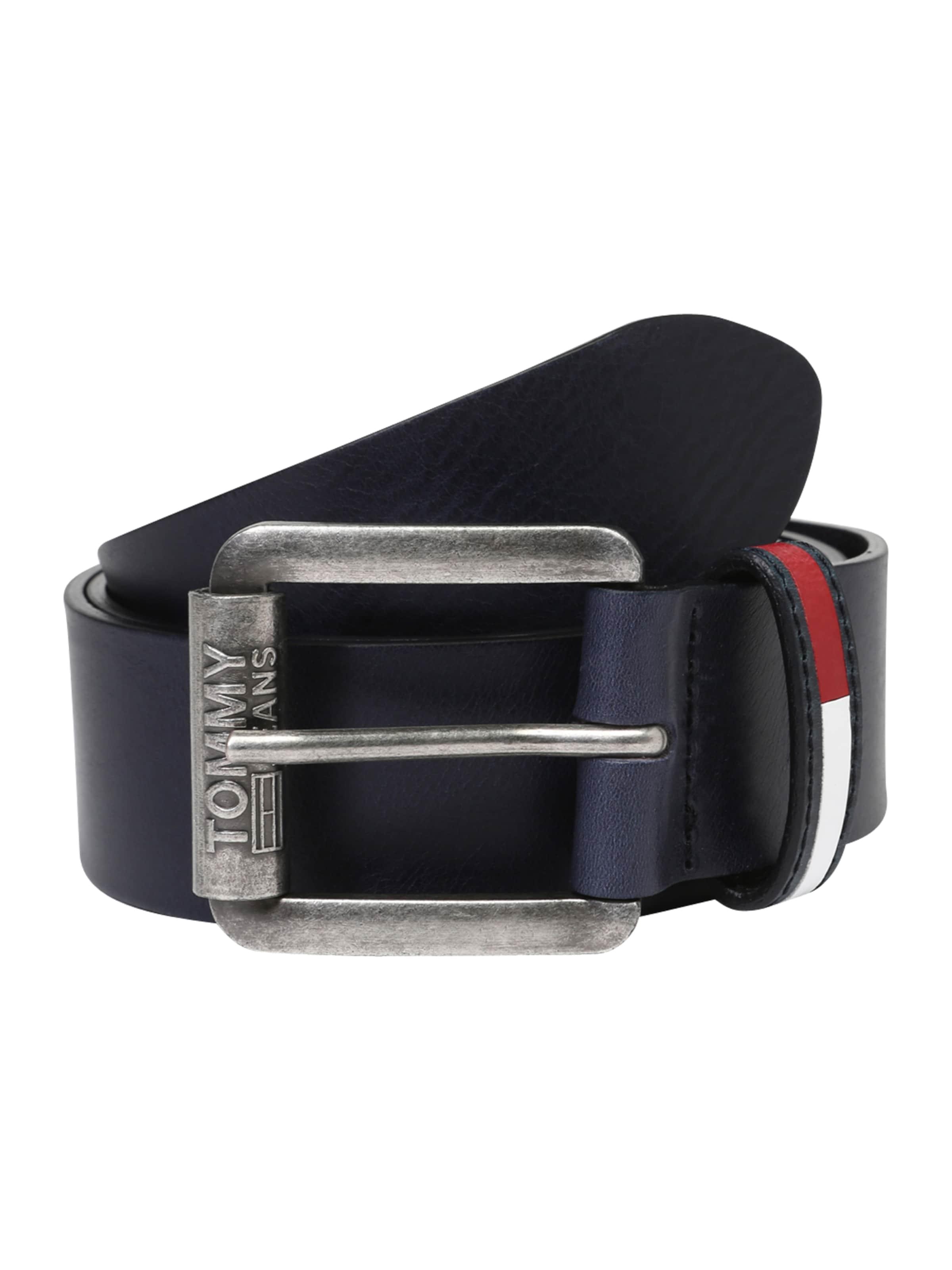 Jeans Riem 0' 4 'tjm Belt Zwart Logo In Roller Tommy shxBtQCrd
