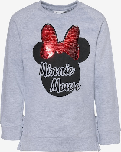 Disney Minnie Mouse Sweatshirt in grau / rot / schwarz, Produktansicht