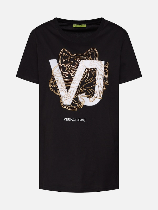 'tdp603 Studs8' En shirt Blanc Versace T Or Jeans Noir qxIaEtw7