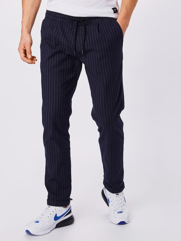 TOM TAILOR DENIM Hose 'yarn dye jogger' in navy, Modelansicht