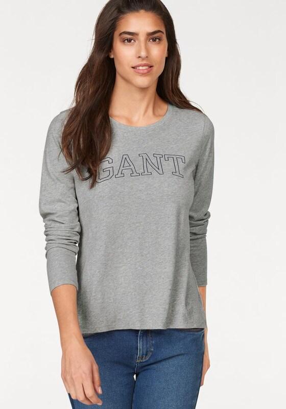 GANT Shirt in graumeliert     schwarz  Neuer Aktionsrabatt e50b3e