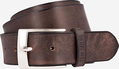 TOM TAILOR Opasek 'Used fullgrain leather belt' - tmavě hnědá, Produkt