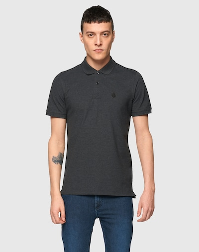 SELECTED HOMME Poloshirt 'SH Daro' in graumeliert: Frontalansicht