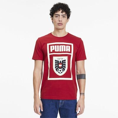 PUMA T-Shirt in kirschrot: Frontalansicht