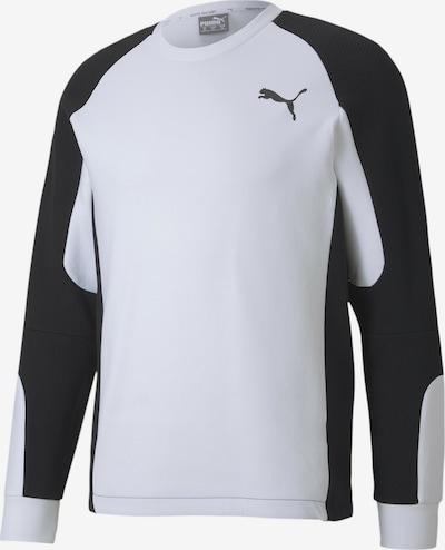 PUMA Sweatshirt 'Evostripe' in schwarz / weiß, Produktansicht