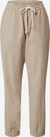 TOM TAILOR DENIM Kalhoty 'Relaxed trackpants Trouser' - béžová: Pohled zepředu