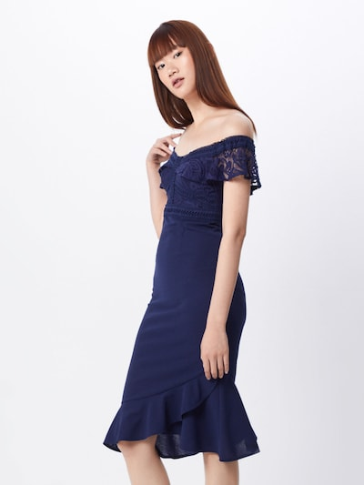 Love Triangle Cocktailkleid 'Reign Supreme' in navy, Modelansicht