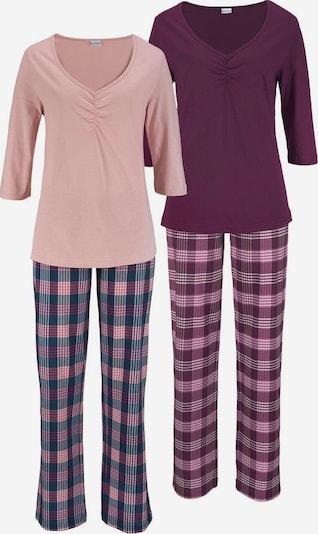 PETITE FLEUR Pyjamas in nachtblau / rosa / bordeaux, Produktansicht
