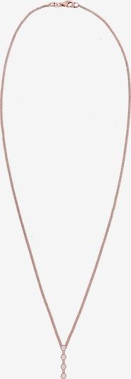 Diamore Kette 'Geo' in rosegold / weiß, Produktansicht