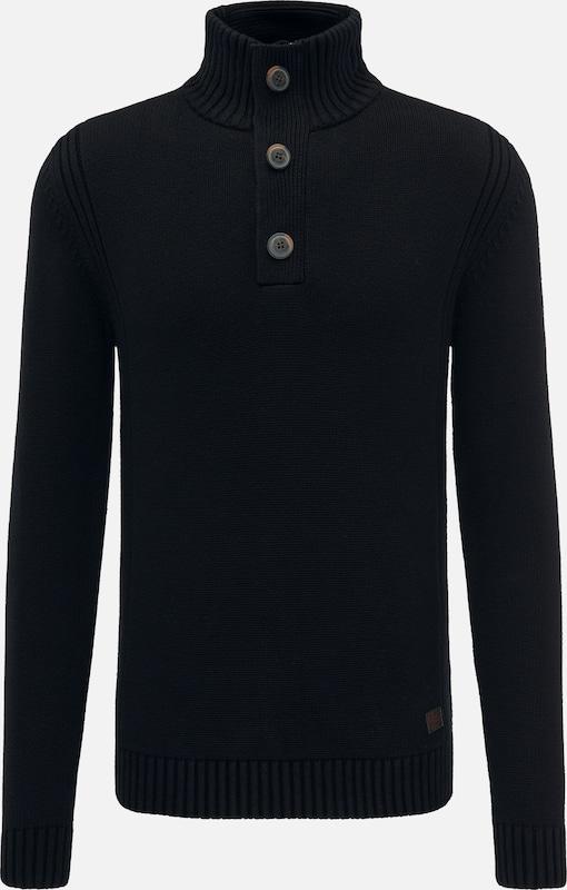 Petrol Industries Pullover in schwarz  Freizeit, schlank, schlank
