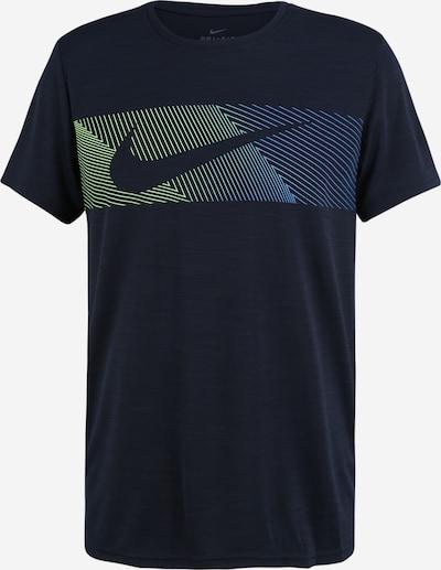 NIKE T-Shirt fonctionnel en bleu ciel / bleu clair / bleu foncé / jaune / vert, Vue avec produit