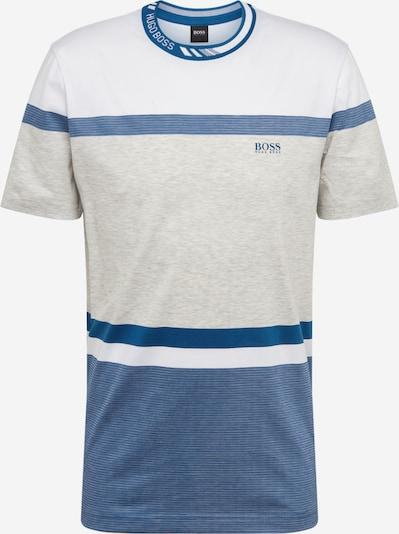 BOSS ATHLEISURE T-Krekls krēmkrāsas / zils / gaiši pelēks, Preces skats