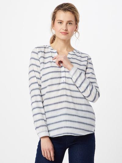 Bluză TOM TAILOR DENIM pe navy / alb, Vizualizare model