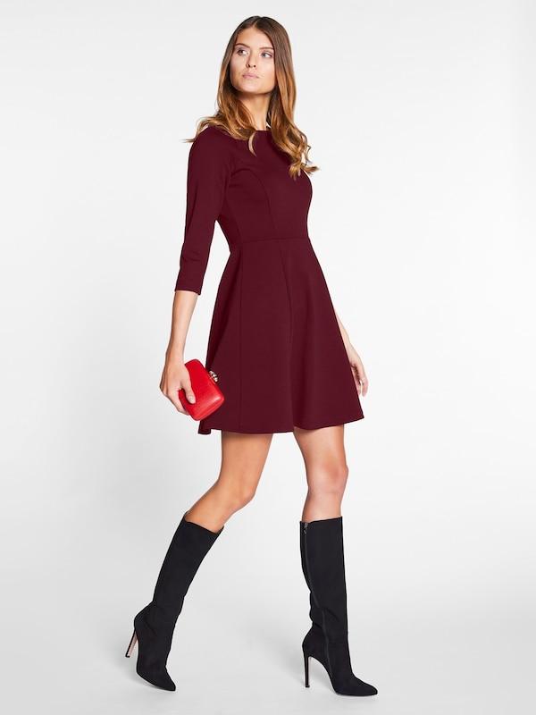 Ausschnitt Bordeaux boot U Kleid Mit Apart IFHwqUp
