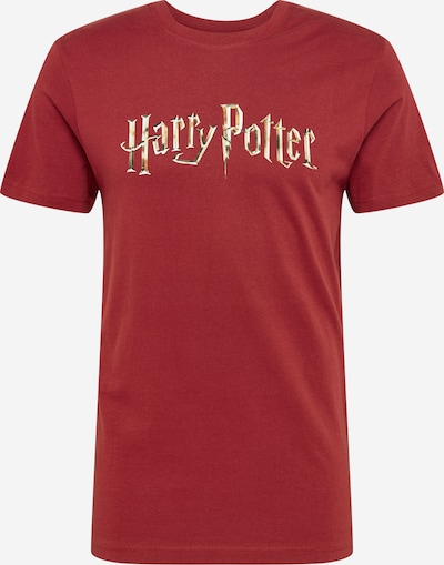 Mister Tee T-Shirt 'Harry Potter' in weinrot: Frontalansicht