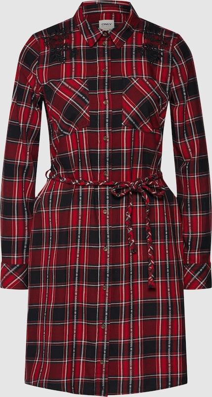 ONLY Hemdkleid in weinrot  Markenkleidung für Männer und Frauen