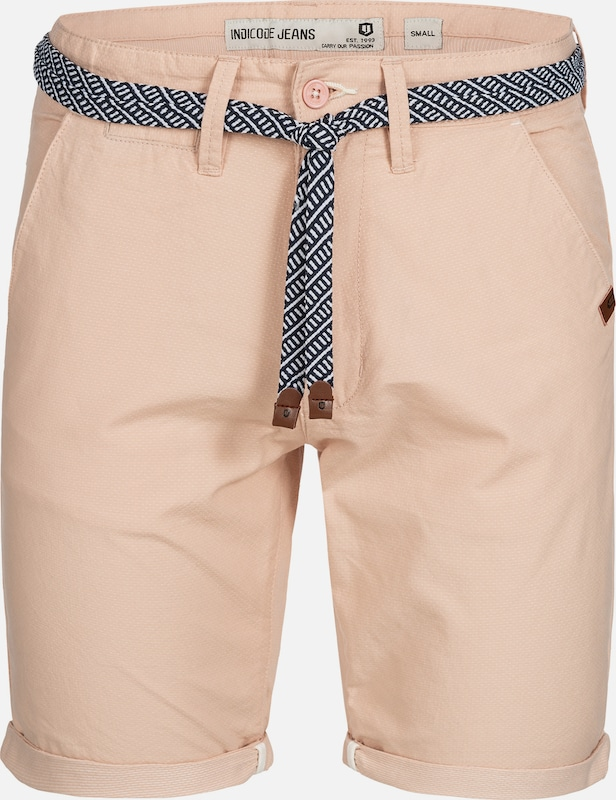 INDICODE JEANS Shorts 'Acton' in rosa: Frontalansicht