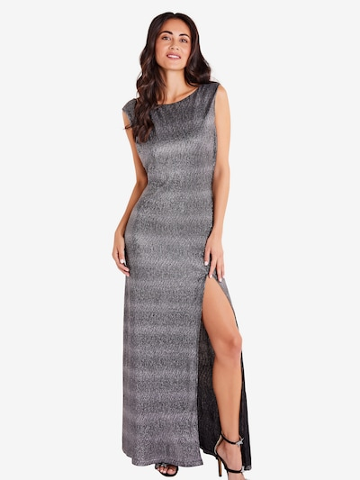 Mela London Večerné šaty 'SIDE SLIT SHIMMER MAXI DRESS' - čierna, Model/-ka
