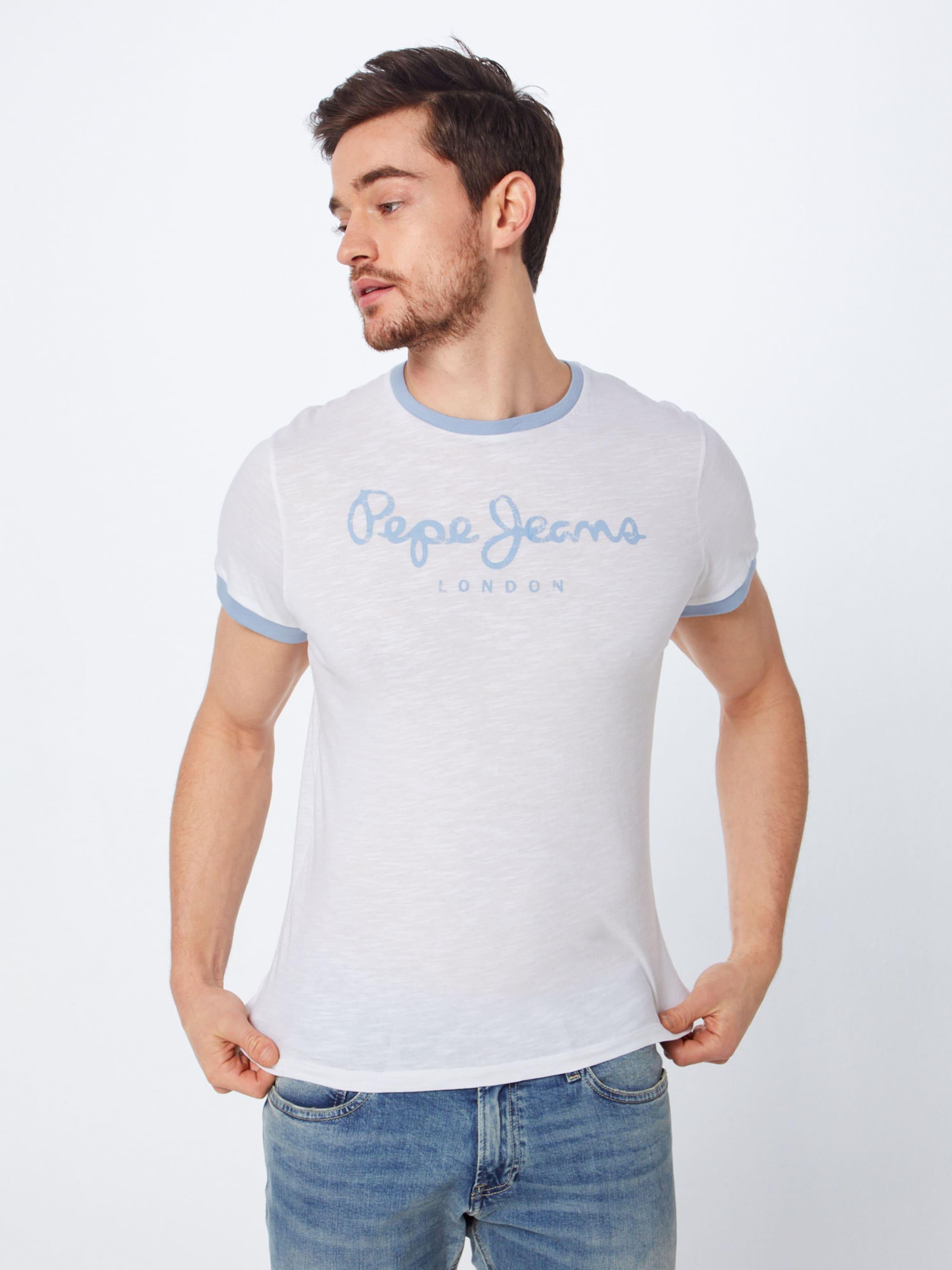 FuméBlanc shirt Pepe Jeans Bleu T 'demitri' En nvmNO80w