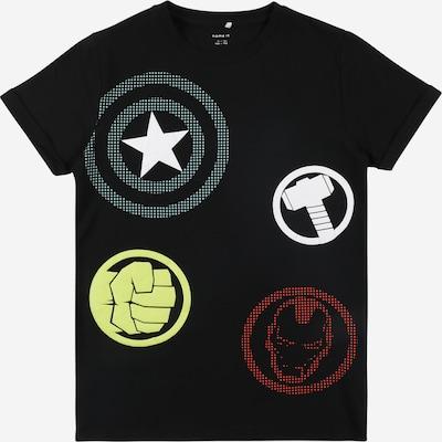 NAME IT Shirt 'TOBBY' in gelb / rot / schwarz / weiß, Produktansicht
