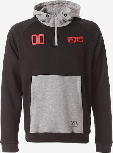 Young & Reckless Sweatshirt 'Foreign Exchange' in de kleur Grijs / Rood / Zwart, Productweergave